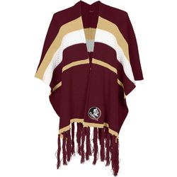 Florida State Juniors Striped Poncho Cardigan By Zoozatz