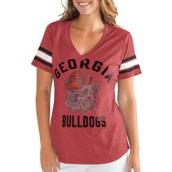 Georgia Bulldogs Juniors Embellished Tee By G-III Apparel