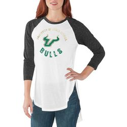 USF Bulls Juniors Raglan Logo T-Shirt By G-III Apparel