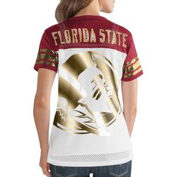 Florida State Juniors Metallic T-Shirt By G-III Apparel