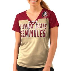 Florida State Juniors Mesh Sleeve T-Shirt By G-III