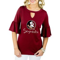 Florida State Juniors Ruffled Keyhole Top By Gameday Couture