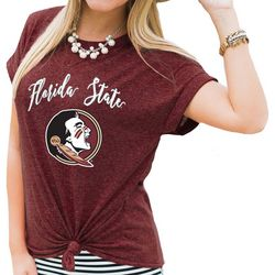 Florida State Juniors Tie Front T-Shirt By Gameday Couture