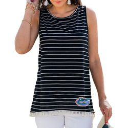 Florida Gators Juniors Striped Tank Top By Gameday Couture