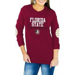 Florida State Juniors Striped Elbow Top By Gameday Couture