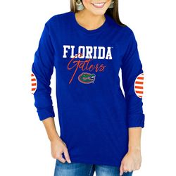 Florida Gators Juniors Striped Elbow Top By Gameday Couture