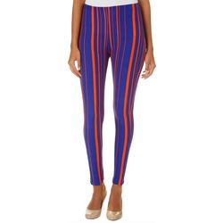 Florida Gators Juniors Vertical Striped Leggings By Hot Kiss
