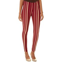 Florida State Juniors Veritcal Striped Leggings By Hot Kiss