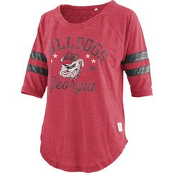 Georgia Bulldogs Juniors Jersey Logo T-Shirt By Pressbox