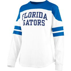 Florida Gators Juniors Athletic Stripe T-Shirt By Pressbox