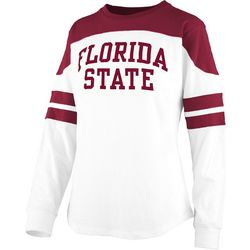 Florida State Juniors Athletic Stripe T-Shirt By Pressbox