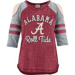 Alabama Juniors Cold Shoulder Top By Pressbox