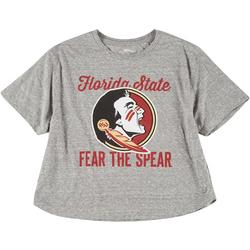 Juniors Fear The Spear Cropped Tee by Pressbox