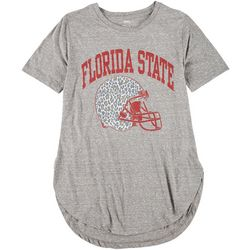 Florida State Juniors Leopard Helmet T-Shirt by Pressbox