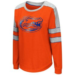 Florida Gators Juniors Blue Foil T-Shirt By Colosseum