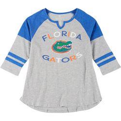 Florida Gators Juniors Baseball Style Tee By Colosseum
