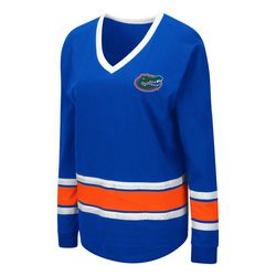 Florida Gators Juniors V-Neck Long Sleeve Top By Colosseum