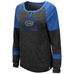 Florida Gators Juniors Henley Top By Colosseum
