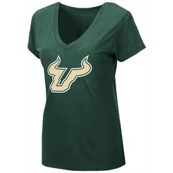 USF Bulls Juniors Logo V-Neck T-Shirt By Colosseum
