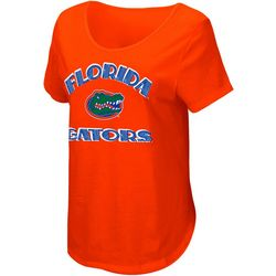 Florida Gators Juniors Scoop Neck Logo T-Shirt By Colosseum