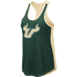 USF Bulls Juniors Logo Scoop Neck Tank By Colosseum