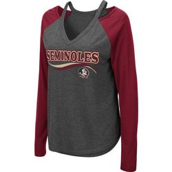 Florida State Juniors Cutout Long T-Shirt By Colosseum
