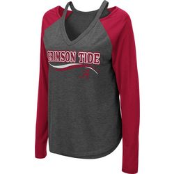 Alabama Juniors Cutout Long T-Shirt By Colosseum