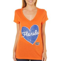 Florida Gators Juniors Speckled Heart T-Shirt By Colosseum