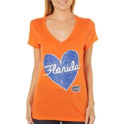 Florida Gators Juniors Speckled Heart T-Shirt By Colosseum