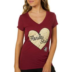 Florida State Juniors Speckled Heart T-Shirt By Colosseum