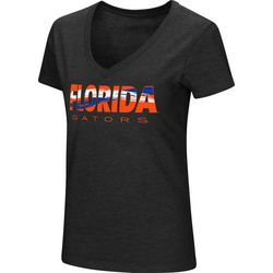 Florida Gators Juniors V-Neck T-Shirt By Colosseum