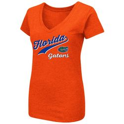 Florida Gators Juniors V-Neck Logo T-Shirt By Colosseum