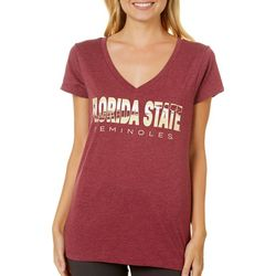 Florida State Juniors V-Neck T-Shirt By Colosseum