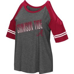 Alabama Juniors Cold Shoulder Top By Colosseum