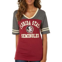 Florida State Juniors Colorblock Logo T-Shirt By Colosseum