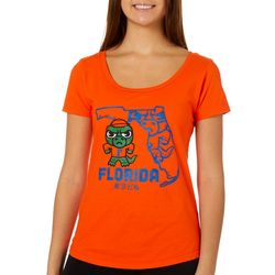 Florida Gators Juniors Tokio Gator T-Shirt By Retro Brand