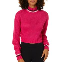 Derek Heart Juniors Cropped Knit Turtleneck Sweater