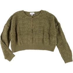 Juniors Cropped Sweater