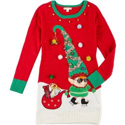 Fashion Ave Knits Juniors Christmas Elf Bell Sweater