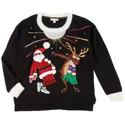 Fashion Ave Knits Juniors Dancing Christmas Sweater