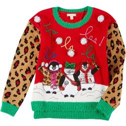 Fashion Ave Knits Juniors Christmas Penguin Sweater
