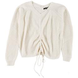 Love Tree Womens V-Neck Cable Knit Sweater