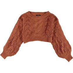 Love Tree Womens Solid Cable Knit Sweater