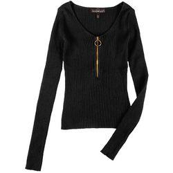 Derek Heart Juniors Solid Quarter Zip Sweater
