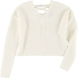 Derek Heart Juniors Solid Crisscross Sweater