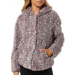 Jolt Juniors Magnetic Buttoned Faux Fur Heathered Jacket