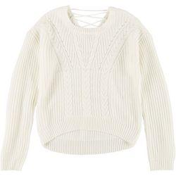 Jolie & Joy Juniors Lace-Up Sweatshirt