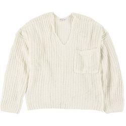 Full Circle Trends Juniors V-Neck Chunky Sweater