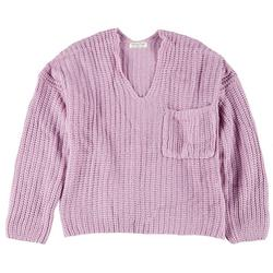 Juniors V-Neck Chunky Sweater