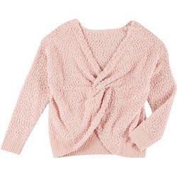 Jolie & Joy Juniors Popcorn Twist Pullover Sweater